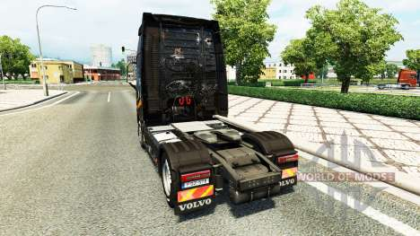La piel de Battlefield 4 v2.0 para camiones Volv para Euro Truck Simulator 2