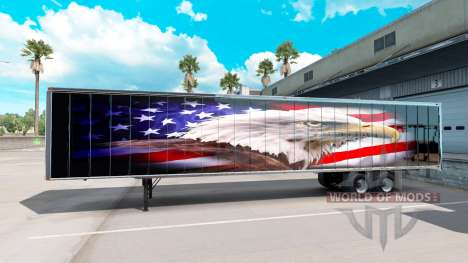 La piel de American eagle en la parte de atrás d para American Truck Simulator