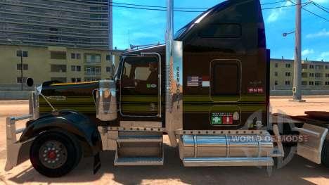 Kenworth W900 Golden Firebird Skin para American Truck Simulator