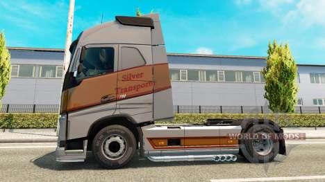 Plata de Transportes de la piel para camiones Vo para Euro Truck Simulator 2