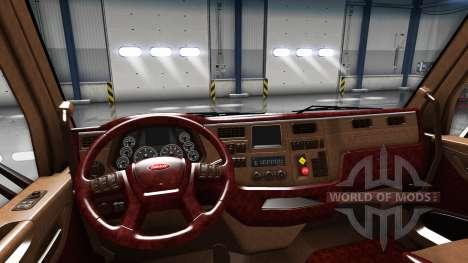 Los interiores de lujo Peterbilt 579 para American Truck Simulator