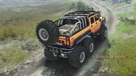 Hummer H2 6x6 [03.03.16] para Spin Tires