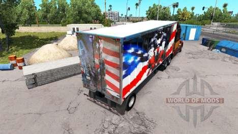 La piel Super Héroe en el semi-remolque para American Truck Simulator