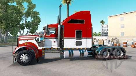 La piel del Ejército en el camión Kenworth W900 para American Truck Simulator