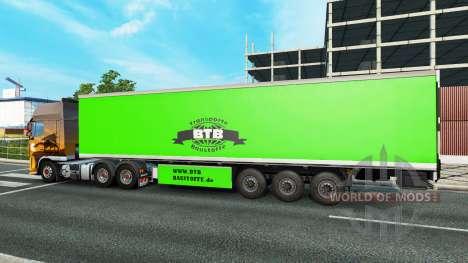 BTB de la piel en el remolque para Euro Truck Simulator 2