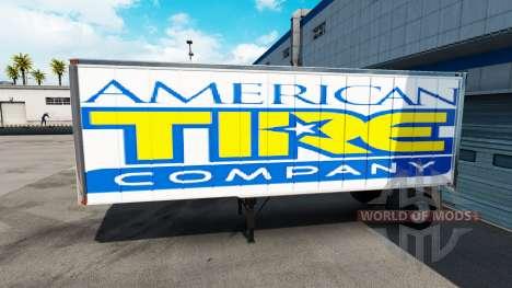 La piel Americana de los Neumáticos del remolque para American Truck Simulator