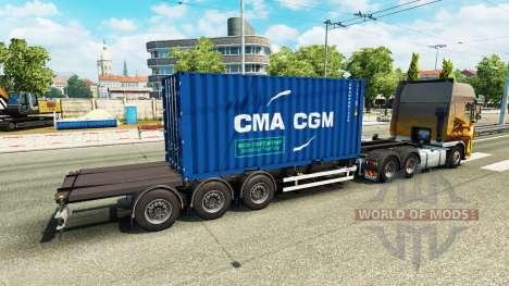 Semirremolque contenedor v2.0 para Euro Truck Simulator 2