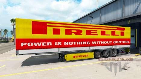 Pirelli piel para un remolque para American Truck Simulator