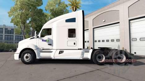 La piel de la Fed Ex camión Kenworth para American Truck Simulator