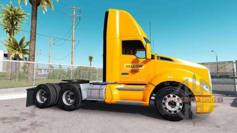 La piel de color Amarillo Corp en el camión Kenw para American Truck Simulator