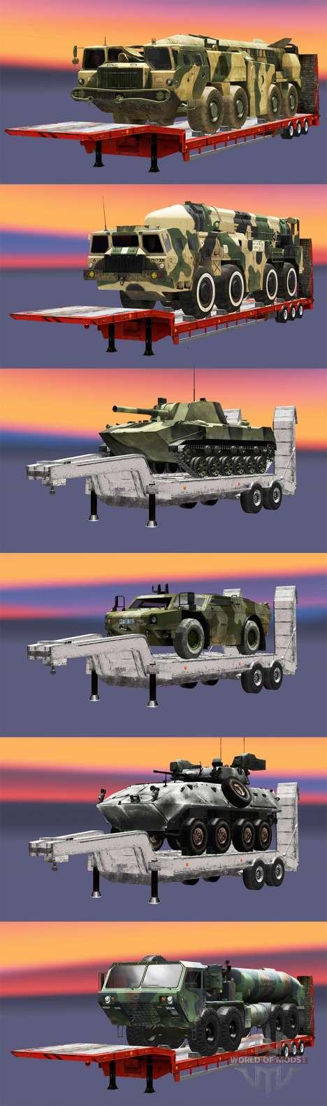 Semi llevar equipo militar v1.1 para Euro Truck Simulator 2