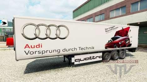 La piel de Audi en el trailer para Euro Truck Simulator 2