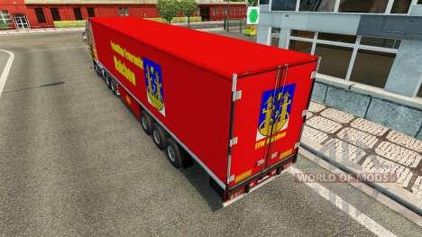 La piel en FFW Malchow remolque para Euro Truck Simulator 2
