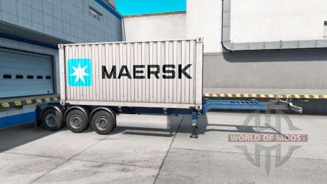 Semi-barco de contenedores de Maersk para American Truck Simulator