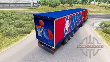 La piel de la NBA en el remolque para American Truck Simulator