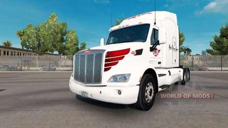 La piel en Keystone Occidental Peterbilt tractor para American Truck Simulator