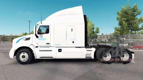 La piel Wallmart para camión Peterbilt para American Truck Simulator
