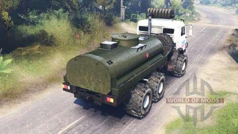 KamAZ-43114 para Spin Tires