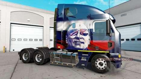 La piel de Putin en el camión Freightliner Argos para American Truck Simulator