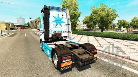 Maersk piel para camiones Volvo para Euro Truck Simulator 2