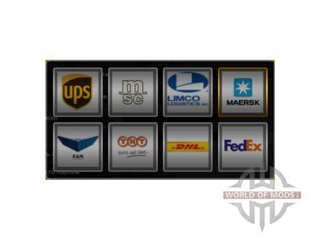 Real logotipos de la compañía para American Truck Simulator