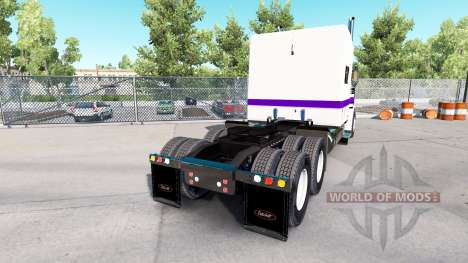 Piel Blanco Y Púrpura para el camión Peterbilt 3 para American Truck Simulator