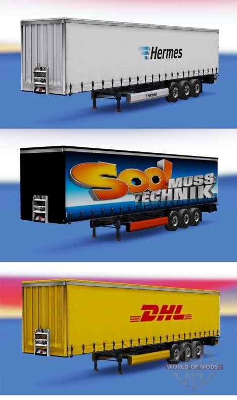 Una colección de skins para remolques v1.0 para Euro Truck Simulator 2