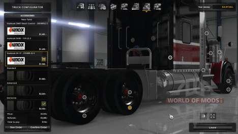 Hankook Truck Tires para American Truck Simulator