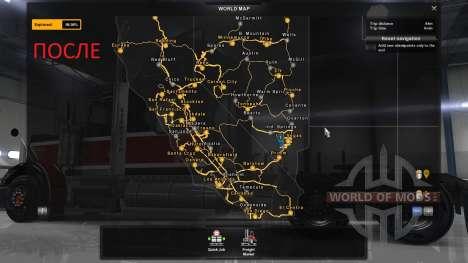 Nuevas ciudades en California y Nevada para American Truck Simulator