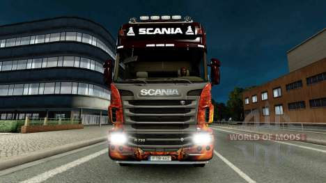 Barra De Luces Scania para Euro Truck Simulator 2
