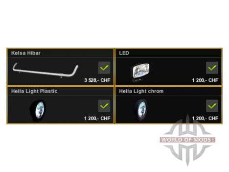 Barra De Luces Kelsa para Euro Truck Simulator 2