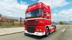 La piel de Coca-Cola en el camión DAF