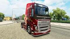 La navidad de la piel para camiones Volvo