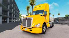 La piel de color Amarillo Corp en el camión Kenw