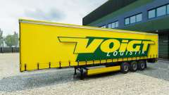 Voigt Logística skin v1.2 on the trailer