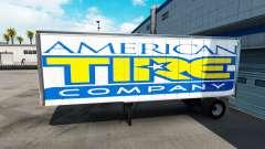 La piel Americana de los Neumáticos del remolque
