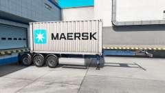 Semi-barco de contenedores de Maersk