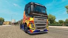 Fuego azul de la piel para camiones Volvo