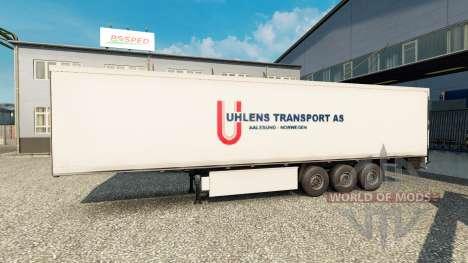 La piel Uhlen de Transporte COMO un semi para Euro Truck Simulator 2