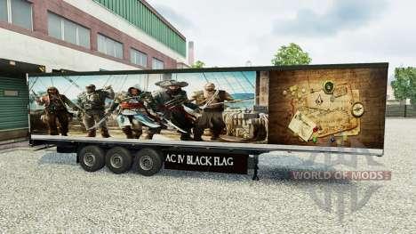 La piel Assassins Creed IV remolque para Euro Truck Simulator 2