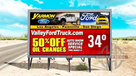 Los estados UNIDOS está en las carteleras de la para American Truck Simulator