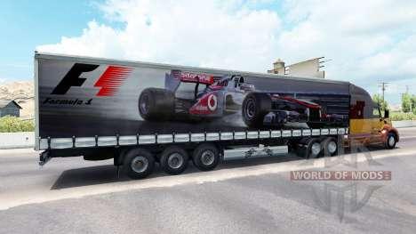 La piel de la Fórmula 1 en el semi-remolque para American Truck Simulator