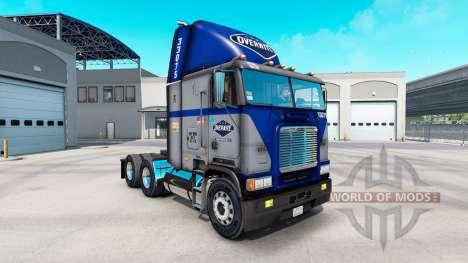 La piel Overnite en camión Freightliner FLB para American Truck Simulator