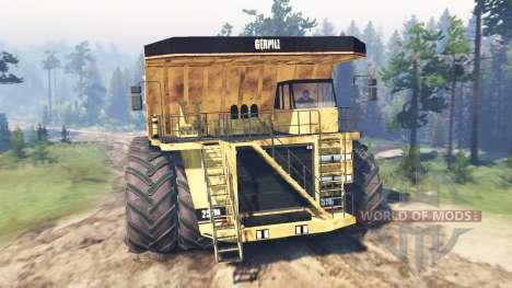 Volcado de camiones 8x8 para Spin Tires
