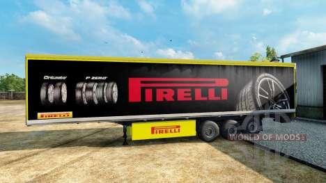 Pirelli piel para el remolque para Euro Truck Simulator 2
