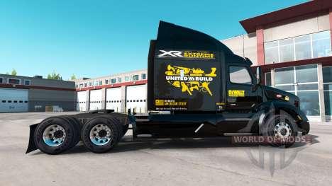 DeWalt de la piel para el camión Peterbilt para American Truck Simulator