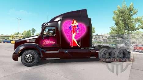 La piel Roger Rabbit Jessica en el Peterbilt tra para American Truck Simulator