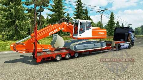 Bajo el barrido con la excavadora ATLAS para Euro Truck Simulator 2