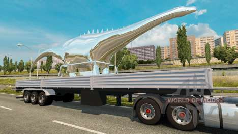 Trailer de la Estatua de Dinosaurio para Euro Truck Simulator 2
