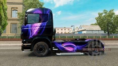 El Negro y el Morado de la piel para Scania cami para Euro Truck Simulator 2